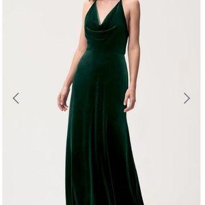 Jenny Yoo Sullivan Dress in Emerald Green, Size 6